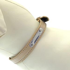 Collier avec plaque - beige