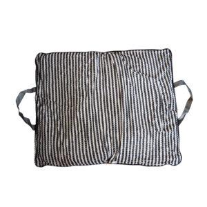 Coussin sac L - gris