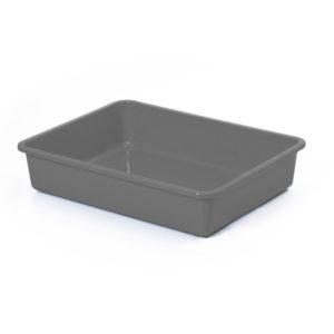 Bac à litière sans rebord - gris