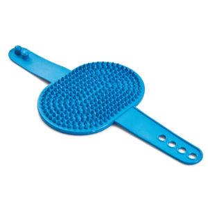 Brosse caoutchouc picots courts - bleu