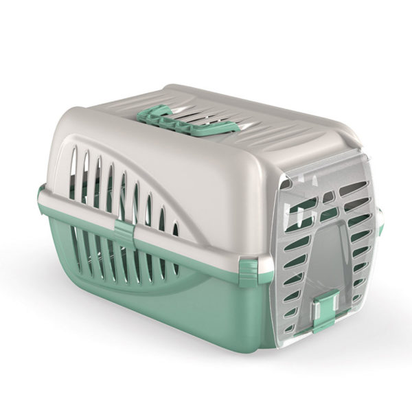 Caisse transport pour chat et petit chien - vert