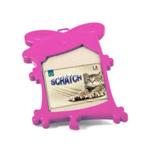 Griffoir en carton ondulé - rose