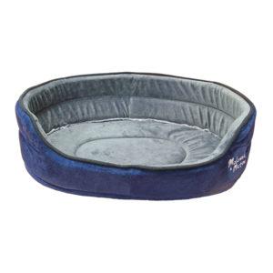Panier tissu velours - bleu marine - TXS