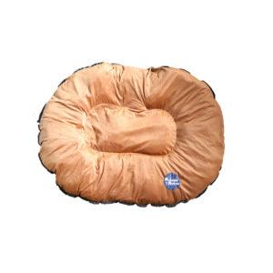 Coussin tissu velours - marron - TS