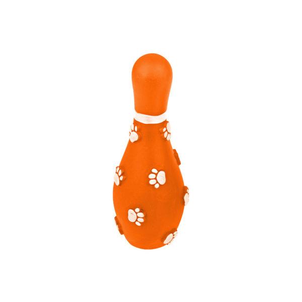 Jouet chien quille de bowling - orange