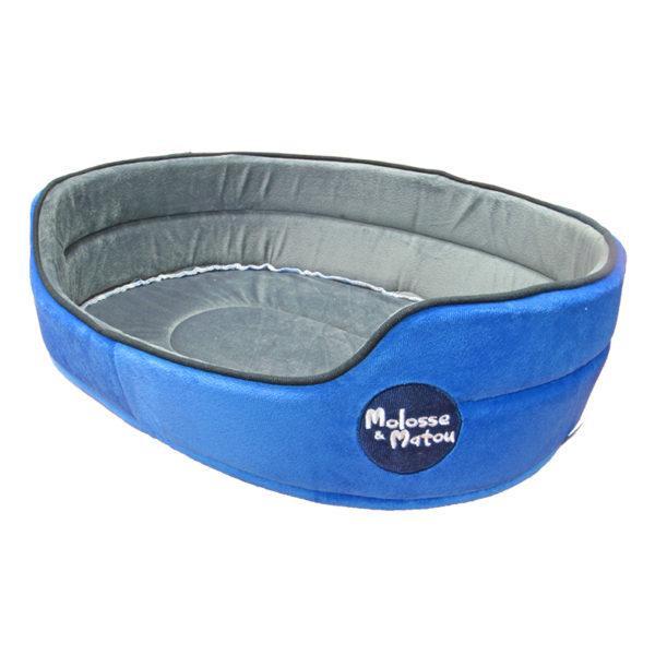 Panier tissu velours - bleu - TM