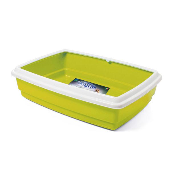 Bac à litière avec rebord - vert pomme