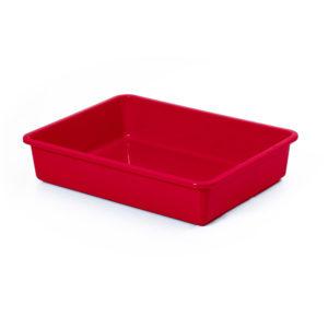 Bac à litière sans rebord - rouge