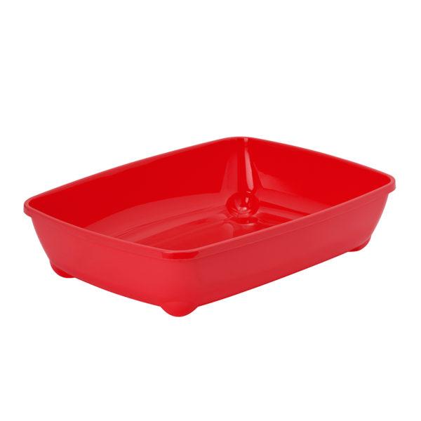 Bac à litière basic - rouge