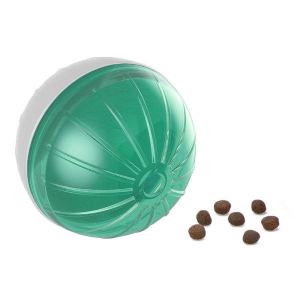 Balle distributrice de nourriture - vert