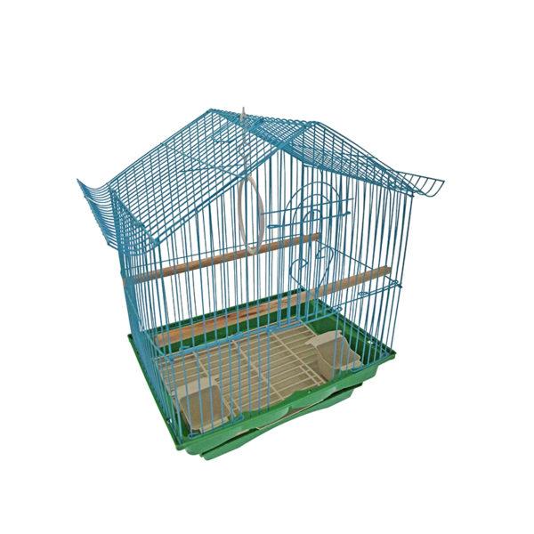 Cage oiseaux - bleu