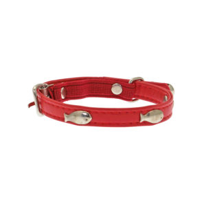 Collier chat avec grelots - rouge