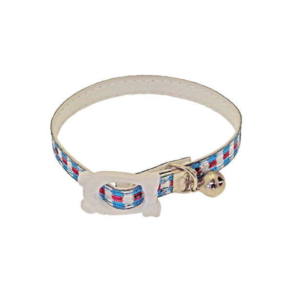 Collier grelot chat ou petit chien - bleu et rose