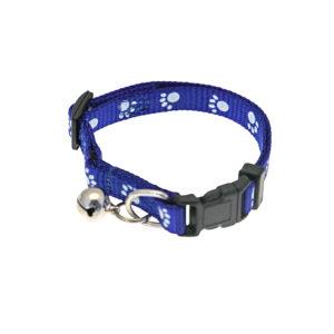 Collier grelot motif patte - bleu