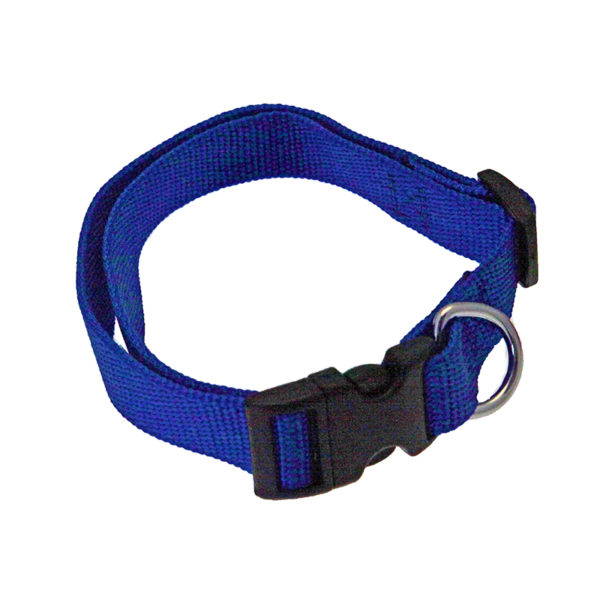 Collier nylon - bleu