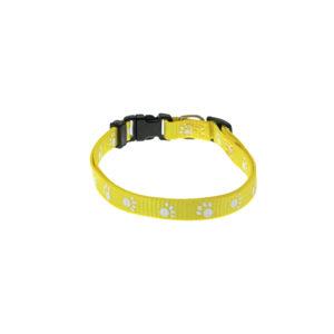 Collier nylon motif pattes - jaune