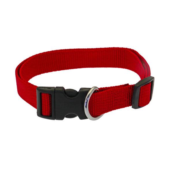 Collier réglable en nylon - rouge