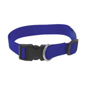 Collier réglable en nylon - bleu marine