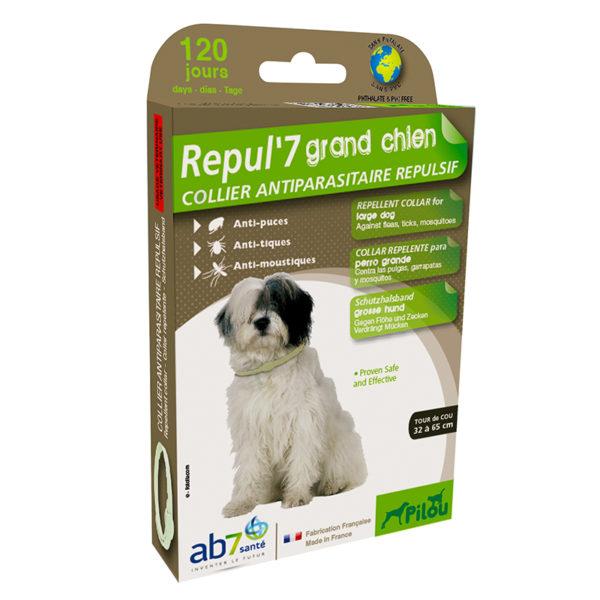 Collier répulsif antiparasitaire pour grand chien