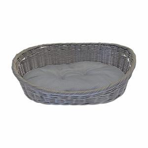 Corbeille chien coussin amovible - gris foncé