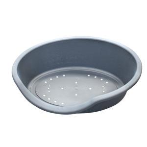 Corbeille en plastique - gris