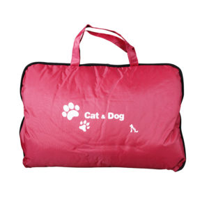 Coussin sac M - rouge