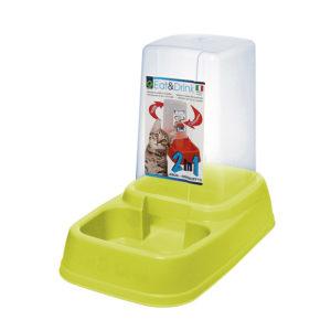 Distributeur eau et croquettes 3,7L - vert pomme
