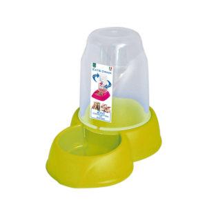 Distributeur eau et croquettes 1,6L - vert pomme