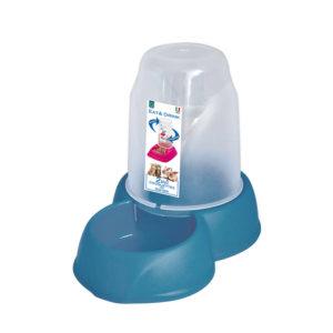 Distributeur eau et croquettes 1,6L - bleu