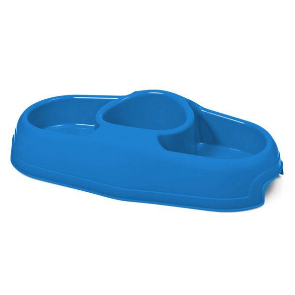 Gamelle trois compartiments - bleu