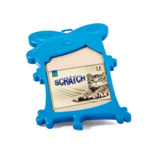 Griffoir en carton ondulé - bleu
