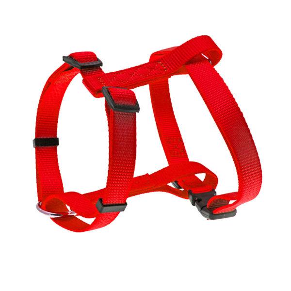 Harnais nylon uni - rouge