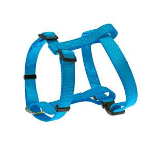 Harnais nylon uni - bleu turquoise