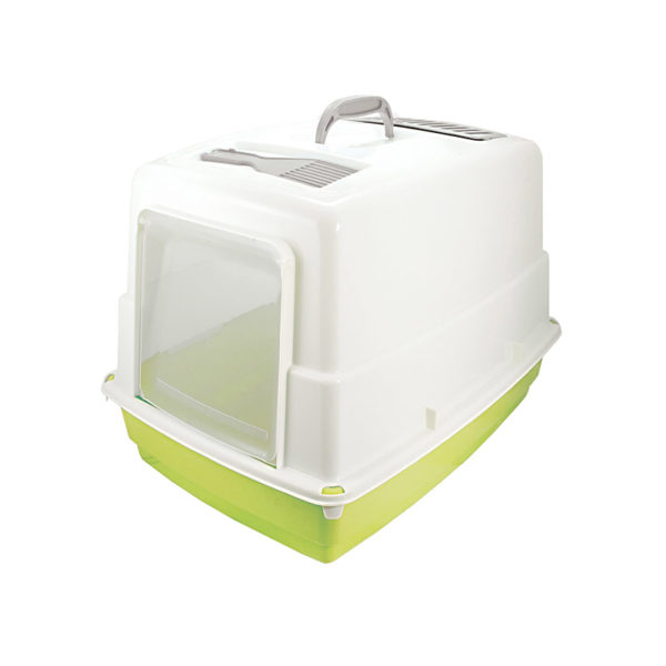Maison de toilette pour chat - vert pomme