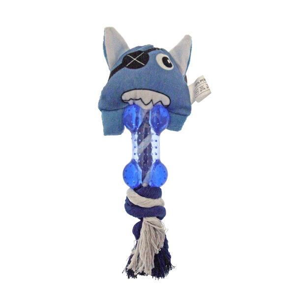 Peluche corde - bleu