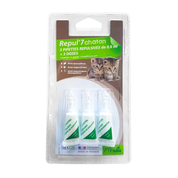 Pipette antiparasitaire pour chatons - 3x0,6ml