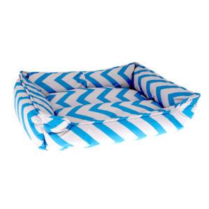 Panier motifs géométriques - bleu