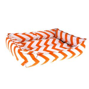 Panier motifs géométriques - orange
