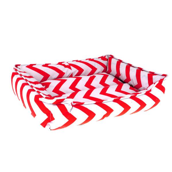 Panier motifs géométriques - rouge