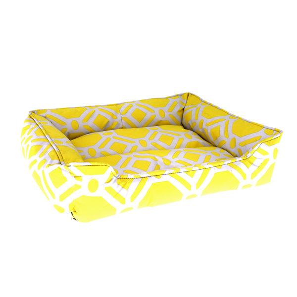 Panier motifs graphiques - jaune