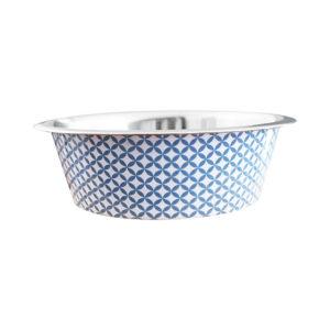 Bol carreau de ciment - bleu brillant Bol carreau de ciment pour chien et chat - coloris bleu brillant