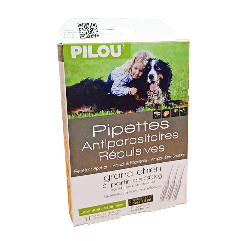 Pipettes antiparasitaires répulsives grand chien à partir de 30 kg