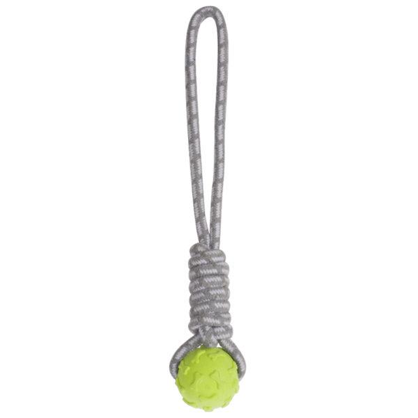 Corde à mâcher balle coloris vert - Cordes Jouets Chiens