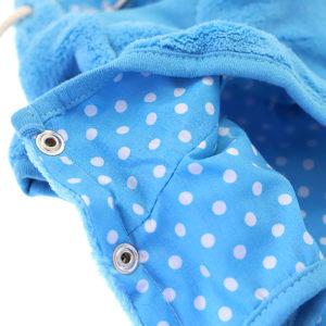 Sweat à capuche doudou bleu